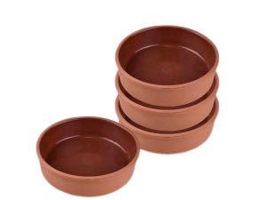 Ofenfeste Ton-Auflaufformen 15 cm 4 Stück für Tapas, Gratin, Güvec, Greixonera, Cazuela sutlac kasesi