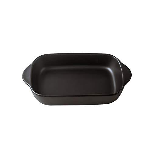Matte binaurale Keramik Backblech, Käse Risotto Dish Haushalt Geschirr Tiefe Suppenteller, für Mikrowelle, Backblech, Backen zu Hause,A