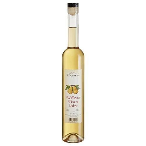 Williams-Birnen Likör Höllberg 30% vol, (1 x 0.5 Liter) edler Fruchtlikör ohne Aromastoff