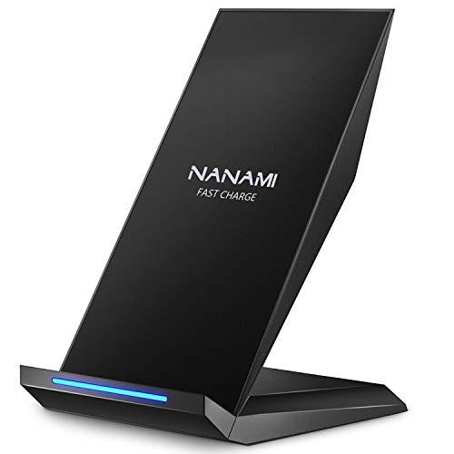 NANAMI Fast Wireless Charger,Induktive Ladestation für iPhone 13 12 pro 12 11 XS Max XR X 8 Plus,kabelloses Ladegerät Qi Charger Handy ladestation Schnell für Samsung Galaxy S21 S20 S10 S9 S8+ Note 20  - Werbung*