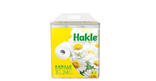 Hakle Toilettenpapier 'Natürlich Pflegend mit Kamille und Aloe Vera' 3-lagig, 1er Pack (1 x 24 Stück)