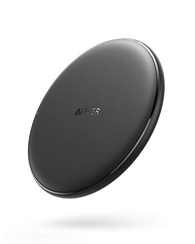 Anker PowerWave Wireless Charger Ladepad, Kabelloses 10W Ladegerät, Qi-Zertifiziert, Kompatibel mit iphone 11/11 Pro/11 Pro max/XR/XS/X/8,10W Schnellladungen, Samsung Galaxy S10/S9 / S9+ /S8/S8+ usw.  - Werbung*