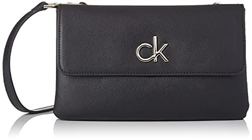 Calvin Klein Damen RE-Lock Crossovers, Ck Schwarz, Medium