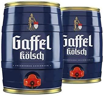 2 Fässer Gaffel Kölsch a 5 Liter (2 x 5) mit eingebautem Zapfhah
