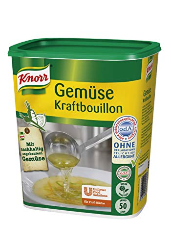 Knorr Gemüse Kraftbouillon (Gemüsebrühe mit Suppengrün, rein pflanzlich, vegan) 1er Pack (1 x 1kg)