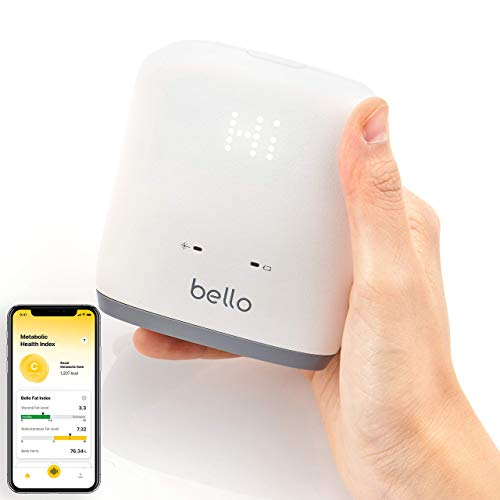 Bello Belly Fat Scanner - Präziser Metabolic Health Analyzer mit Smart App - Bluetooth, Handheld, kompatibel mit Apple Health und Google Fit