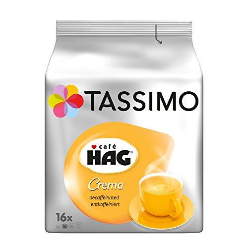 Tassimo Kapseln Café HAG, 80 Kaffeekapseln, 5er Pack, 5 x 16 Getränk