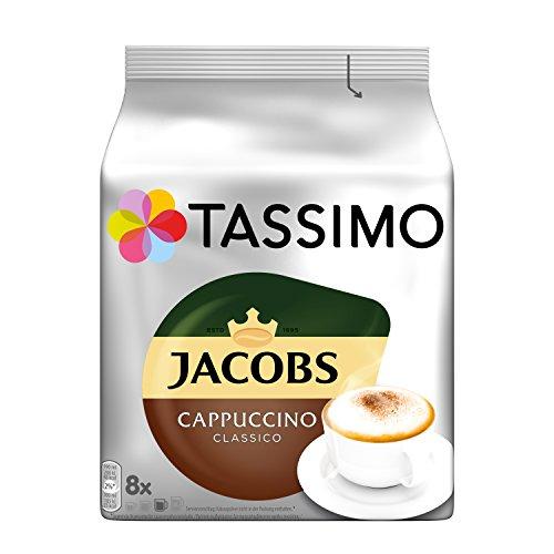 Tassimo Kapseln Jacobs Cappuccino Classico, 40 Kaffeekapseln, 5er Pack, 5 x 8 Getränk