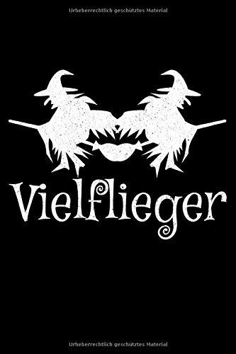 Vielflieger: Liniertes Notizbuch Din-A5 Heft für Notiz