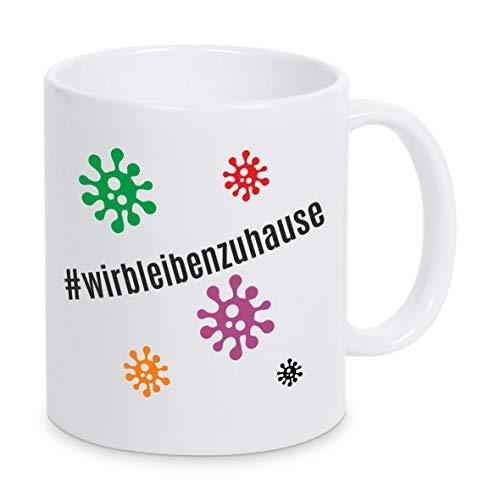 Tassenliebe® - '#wirbleibenzuhause - Tasse mit Spruch, Solidarität, Corona, Virus, Covid-19