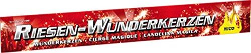 100 XXL Riesen Wunderkerzen Nico Feuerwerk a 45cm ca. je 90 Sekunden Brennda