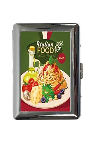 Zigarettenetui Box Essen Restaurant Italienisches Essen Bedruckt