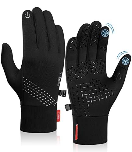 TANSTC Touchscreen Handschuhe Herren Damen, Laufhandschuhe Fahrradhandschuhe Skihandschuhe Damen Herren, Sport Elastisch Leicht Atmungsaktiv Outdoor Gloves Motorrad Fahrrad Camping Wandern Bergstei