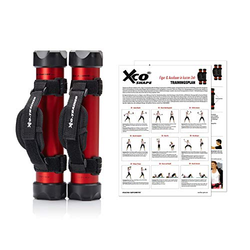 XCO-TRAINER® Shape Set, 2 x XCO-Trainer, 2 x Handschlaufen, 1x Trainingspla