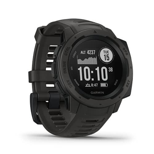 Garmin Instinct - wasserdichte GPS-Smartwatch mit Sport-/Fitnessfunktionen und bis zu 14 Tagen Akkulaufzeit. Herzfrequenzmessung am Handgelenk, Fitness Tracker und Smartphone Benachrichti