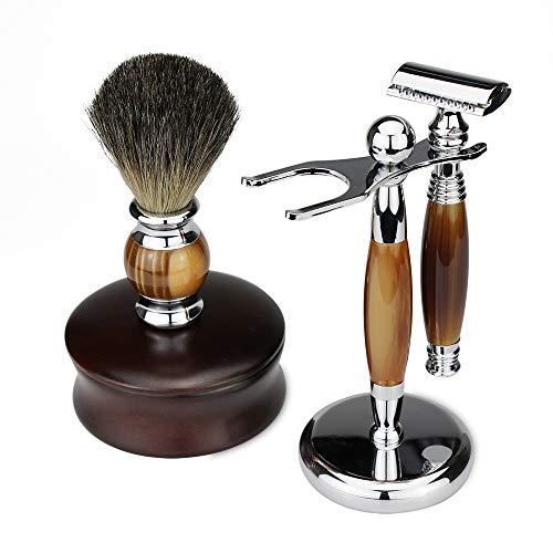Straight Edge Razor Zweiseitiges Sicherheits-Rasiermesser der Männer Shaving Kit Handbuch Rasiermesser Set