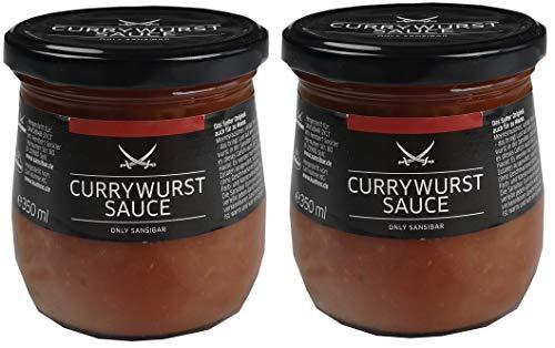 SANSIBAR Sylt - die kultige Currywurst Sauce - spicy (würzig-scharf) je 350ml (2)