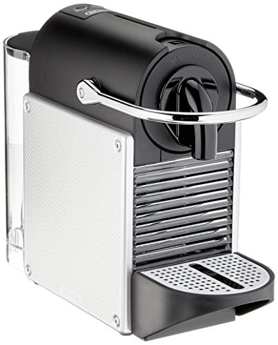 De'Longhi Nespresso EN 124.S Kapselmaschine Pixie Silber   1260 Watt   0,7 Liter   Seitenpanels aus recycelten Nespresso Kapsel