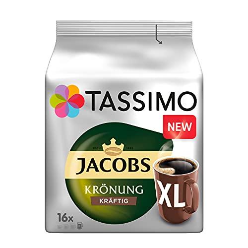 Tassimo Kapseln Jacobs Krönung Kräftig XL, 80 Kaffeekapseln, 5er Pack, 5 x 16 Getränke 720