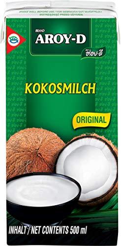 AROY-D Kokosmilch (Fettgehalt ca. 19% - Ideal zum Kochen, Backen, für Desserts und Cocktails), 8er Pack (8 x 500 ml)