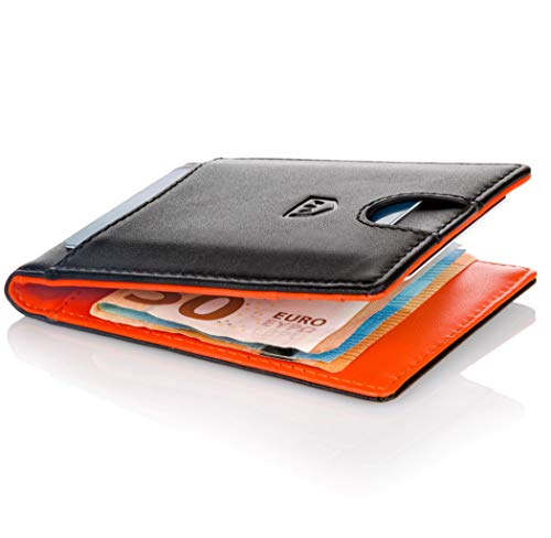 Kronenschein® Premium Herren Portemonnaie Geldbeutel mit Geldklammer Portmonee Männer Geldbörse RFID Slim-Wallet Brieftasche Kreditkartenetui Kartenetui