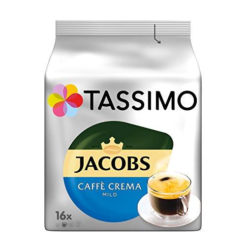Tassimo Kapseln Jacobs Caffè Crema Mild, 80 Kaffeekapseln, 5er Pack, 5 x 16 Getränk