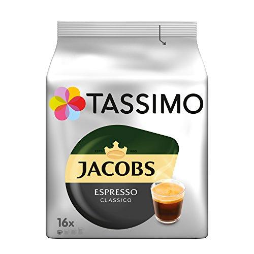 Tassimo Kapseln Jacobs Espresso Classico, 80 Kaffeekapseln, 5er Pack, 5 x 16 Getränk