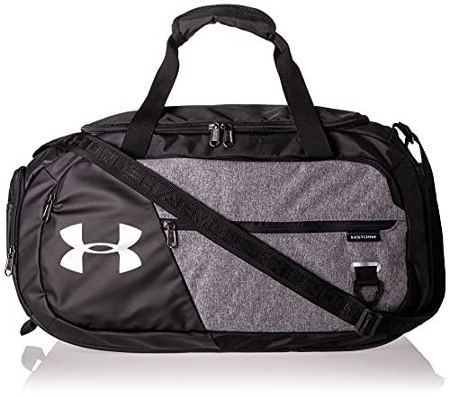 Under Armour Undeniable Duffel 4.0 MD, geräumige Sporttasche, wasserabweisende Umhängetasche Unisex, Graphite Medium Heather / Black / Black , Einheitsgröß