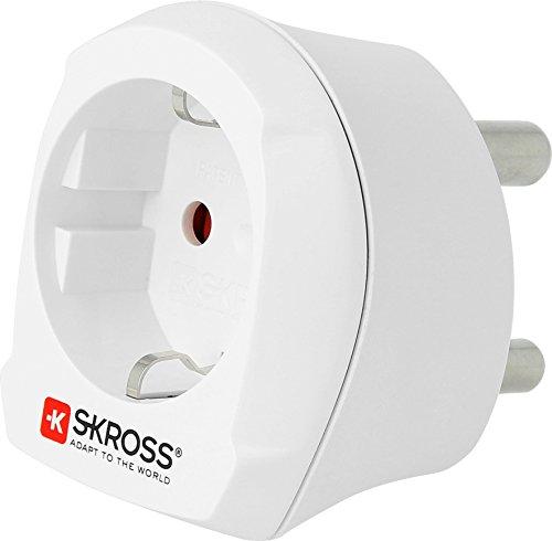 SKROSS 1.500201 Country Adapter Europe to South Africa: Reiseadapter für Reisen in Länder, die den südafrikanischen Standard verwenden