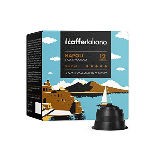 Nescafè Dolce Gusto, 96 Kaffeekapseln mit dem Nescafè-Dolce-Gusto-System kombpatible - Il Caffè Italiano - Mischung Napoli, Intensität 12.