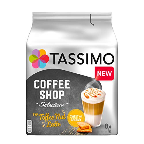 Tassimo Kapseln Coffee Shop Selections Toffee Nut Latte, 40 Kaffeekapseln, 5er Pack, 5 x 8 Getränk
