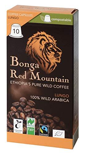 BIO Bonga Red Mountain Lungo Kapseln 55g, kompostierbar EN DIN 13432