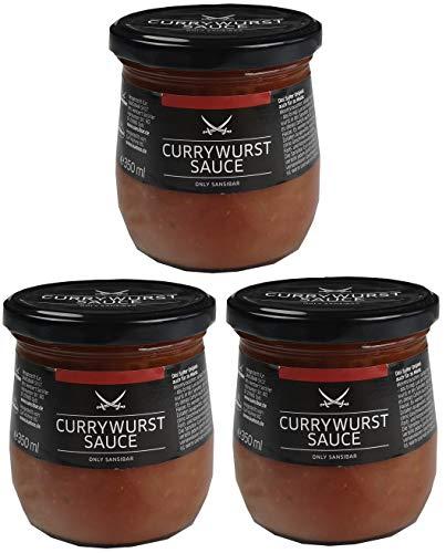 SANSIBAR Sylt - die kultige Currywurst Sauce - spicy Currywurstsoße (würzig-scharf) (Currywurstsoße, 1050 ml)