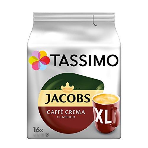 Tassimo Kapseln Jacobs Caffè Crema Classico XL, 80 Kaffeekapseln, 5er Pack, 5 x 16 Getränk