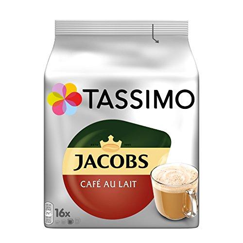 Tassimo Kapseln Jacobs Café au Lait, 80 Kaffeekapseln, 5er Pack, 5 x 16 Getränk