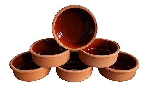 Avanos 6 Auflaufformen aus Ton, Schalen für Tapas, Gratin Güvec, Greixonera, Cazuela