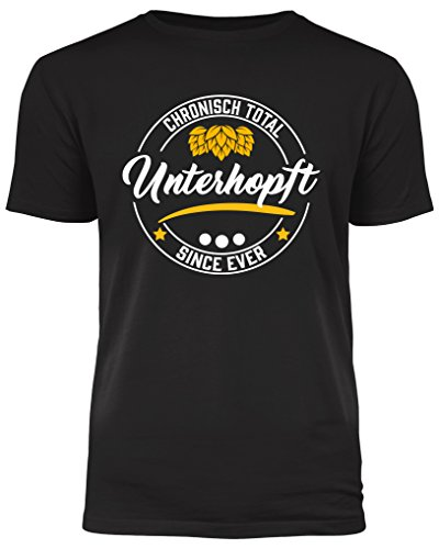 Chronisch Unterhopft - das T-Shirt für alle Bierliebhaber und Genießer (L)
