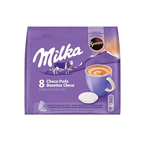 Senseo Milka Kakao Pads, 40 Senseo kompatible Pads, 5er Pack, 5 x 8 Getränke, 560