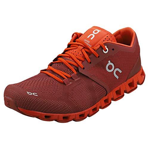 On Running Herren Cloud X Textile Synthetic Sienna Rust Trainer 40.5 EU