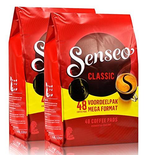 Senseo Kaffeepads Classic / Klassisch, 2er Pack, 2x48 Pads