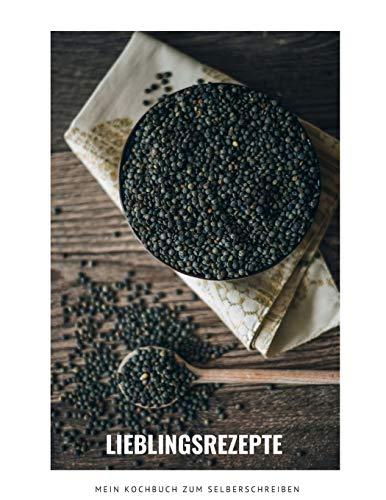 LIEBLINGSREZEPTE - Mein Kochbuch zum Selberschreiben: MEIN XXL KOCHBUCH zum Selberschreiben REZEPTBUCH Softcover & Punktraster • INHALTSVERZEICHNIS & SEITENNUMMERIERUNG A4 Linsen Cov
