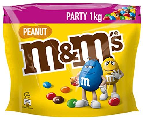 M&M'S Peanut, Schokoladenlinsen mit Erdnusskern, Party Großpackung, 1k