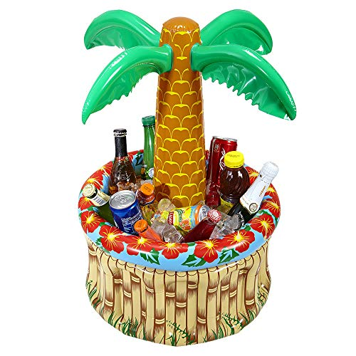 Widmann 04865 - Aufblasbare Palme, mit Getränkekühler, zum Befüllen mit Eis und Wasser, Höhe ca. 62 cm, Durchmesser ca. 42 cm, Beachparty, Motto Party