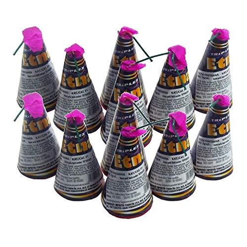 12 Stück h2i Etna - Happy - Kongo Vulkane Sylvester Party Feuerwerk +ein h2i Feuerz