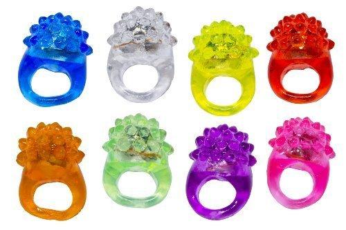 BLINKRING 8er Set - Das Original - Mallorca-Edition - Blinkende LED Party Ringe (8-Farben-Mix)