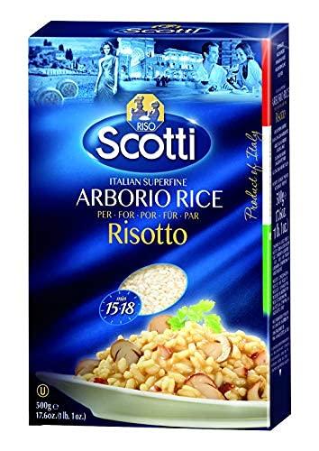 Riso Scotti - Arborio-Reis - Superfeiner Reis, Naturreis fertig in 15 Minuten - 6 x 500