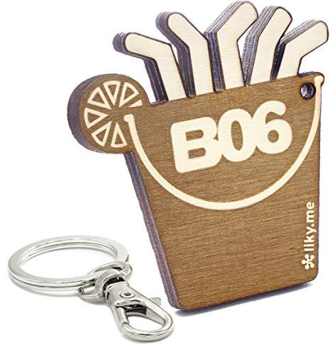 LIKY ® Mallorca Balneario 06 Ballermann Schlüsselanhänger Original aus Holz Gravur Geschenk für Damen Herren Geburtstag Hobby Anhänger Tasche Rucksack