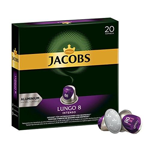 Jacobs Kaffeekapseln Lungo Intenso, Intensität 8 von 12, 200 Nespresso®* kompatible Kapseln, 10 x 20 Getränk