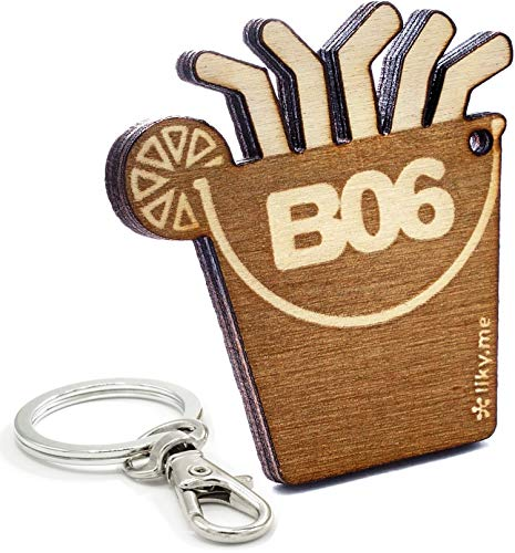 LIKY® Mallorca Balneario 06 Ballermann Schlüsselanhänger Original aus Holz Gravur Geschenk für Damen Herren Geburtstag Hobby Anhänger Tasche Rucksack