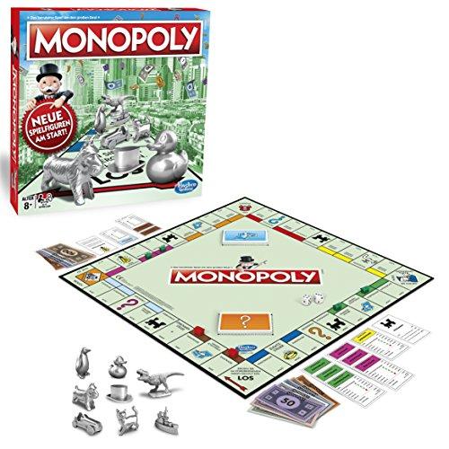 Hasbro Gaming C1009100 Monopoly Classic, Gesellschaftsspiel für Erwachsene & Kinder, Familienspiel, der Klassiker der Brettspiele, Gemeinschaftsspiel für 2 - 6 Personen, ab 8 Jah